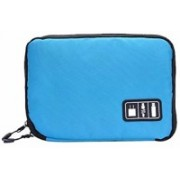 Aeoss Travel Electronic Accessories Hard Drive Bag USB Flash Drives Travel Organizer For Earphone Cables Digital Storage Bag Case BLUE(Blue)