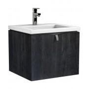 Oristo Siena szafka z umywalką Twins 50x39x45 dąb czarny OR45-SD1S-50-50/UME-TW-50-91
