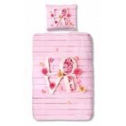 Good Morning dekbedovertrek Love 135 x 200 cm roze