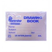 Powerstar Drawing Book A4l 24page, Retail