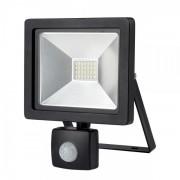Solight LED venkovní reflektor SLIM, 20W, 1400lm, 3000K, se senzorem, černý SOLIGHT WM-20WS-G