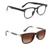 Sulit Aviator, Round, Wayfarer, Retro Square Sunglasses(Clear, Brown)
