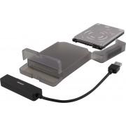 DELTACO MAP-K104 2,5 SATA 3.0 HDD/SDD behuizing - USB 3.1 - Kunststof
