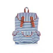 Shaun Design Blue Stripes Backpack with Laptop Protection