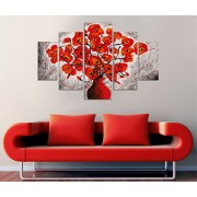 Tablou decorativ multicanvas Miracle, 5 Piese, Abstract, 236MIR2950, Multicolor