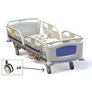 Camas Hospitalares Matrix T40 2185x958x380mm c/ Comando lateral e pé, 5º Roda e Alarme
