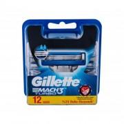Gillette Mach3 Turbo rezerve aparat de ras 12 buc pentru bărbați