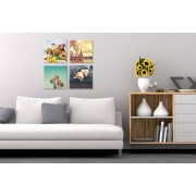 """Fab Deco Ltd - Deco Matters £12 instead of £119.96 for a set of four square 8""""x 8"""" personalised canvases from Fab Deco Ltd - Deco Matters - save 90%"""