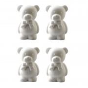Merkloos 6x Knutselmateriaal beren met strik 20 cm van piepschuim