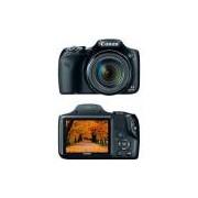 Câmera Digital Semiprofissional Canon Powershot Sx530hs 16MP 50x 2MB Grande Angular de 24mm Preto Full HD