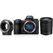 Digitalni foto-aparat Nikon Z7, Set (Sa 24-70mm f4 + FTZ adapter), Crna