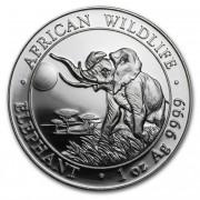Stříbrná mince 100 Schillings Elephant (Slon africký) 1 Oz 2016 African Wildlife Series