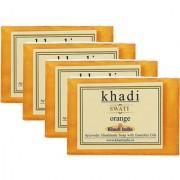 Khadi Swati Orange Soap - Pack of 4 (125 Gms Each)