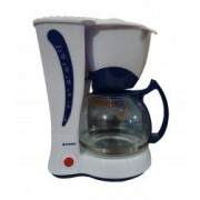 Cafetiera cu filtru permanent 12 cesti cafea putere 800 w alb/albastru
