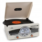 AUNA MG-TT-82C RETRO '50S грамофон FM радио кремав (MG-TT-82C)