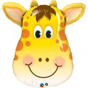 Balon folie figurina cap girafa - 80cm, Qualatex 31038