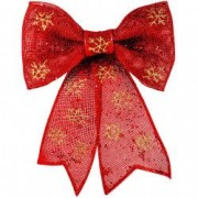 Funda rosie ornament craciun fulgi auriif