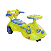 Ehomekart Funride Scooby Twist and Swing Magic Car with Backrest and Hand Rest(Green-Blue)