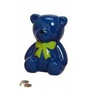 Merkloos Blauwe teddybeer spaarpot 20 cm