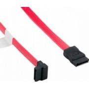 Cablu date 4World SATA unghi 90 grade 50cm Rosu