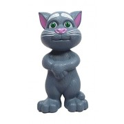 Rvold Intelligent Touching Talking Tom Cat with wonderful voice, Stories and Songs, Touch Functions (Grey)