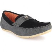 Footista Mens Black Loafers