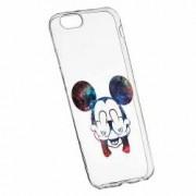 Husa Silicon Transparent Slim Mini Mouse FU Apple iPhone 6 PLUS 6S PLUS