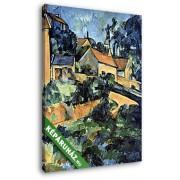Paul Cézanne: Kanyar Montgeroultban (20x25 cm, Vászonkép )