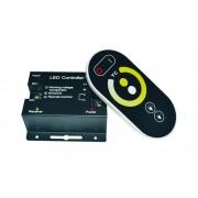 Ďiaľkový ovládač teploty bielej farby a jasu pre LED svetelný pás