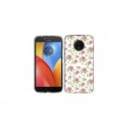 Funda Para Celular Motorola E4 Plus Flores Blanco