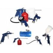 Set 5 Accesorii Pistol de Vopsit pentru Compresor si Aer Comprimat 2-10 Bar Furtun 5m si Diverse Pistoale