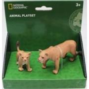 Set 2 figurine National Geographic Leoaica si puiul