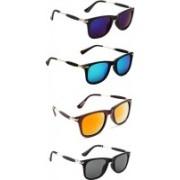 Ultra Digits Wayfarer Sunglasses(Violet, Blue, Orange, Black)