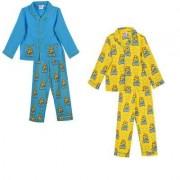 Minions pyjamas 2 delar barn (Blå, 6 ÅR - 116 cm)