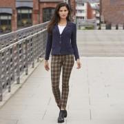 Recover Tartan-Skinny-Jeans, 36 - Beige/Grün/Rot