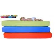 CE Baby Cubre Colchón de Cuna Transpirable e Impermeable en Colores medida de 080x130,color Blanco-01