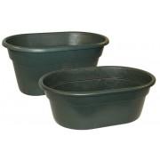 Weidetränke ca. 380 l, mit Ablaufstopfen, L 130 x B 85 x H 62 cm, Gewicht 15 kg