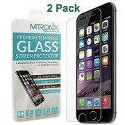 iPhone 6s/6 Plus Screen Protector[2 Pack] MTRONX [0.2mm+9H Hardness][3D Touch Compatible] HD Ultra Clear Tempered Glass