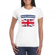 Bellatio Decorations Engelse vlag shirt wit dames