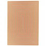 Floorita binnen/buitentapijt Braid - oranje - 133x190 cm - Leen Bakker