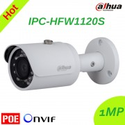 Original Dahua 1.3MP HD Network Mini IR Bullet Camera IPC-HFW1120S Outdoor Waterproof IP67 IP Camera Support POE English vision