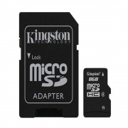 Kingston Memoria Flash 8 Gb Micro Sd Hc Adaptador Sdc4/8Gb Kingston Kingston Kingston 740617128147