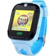 Smartwatch Wonlex pentru copii GW2000 GPS SIM WiFi buton SOS monitorizare spion compatibil Digi Albastru