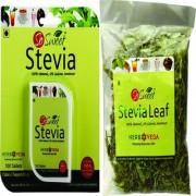 So Sweet Stevia Combo of 100 Stevia Tablets and Stevia 25 gm Leaf Pack 100% Natural Sweetener- Sugarfree