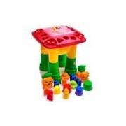 Mesa De Atividades Infantil Mk200 Vermelha - Dismat