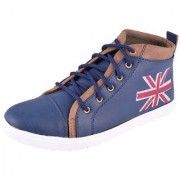 Stylish Men's High Top Shoes in Blue