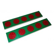 Kido Montessori Materials - Mathematic - LC Fraction Circles Wooden with Stands