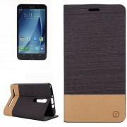 Horizontal Flip Canvas Leather Case with Card Slot & Holder for Asus Zenfone 2 ZE551ML(Coffee)
