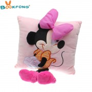 35 cm 3D Mickey Mouse en Minnie Mouse Pluche Kussen Kawaii Mickey Minnie Knuffels Kids Verjaardagscadeautjes Thuis Sofa Decor