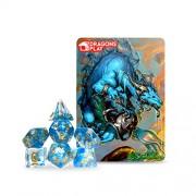 Zodiac Dragon Set Dragons Play Aquarius RPG Dice